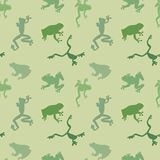 Seamless  pattern of green frog Royalty Free Stock Photos