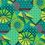 Seamless pattern of  green geometric shapes Royalty Free Stock Photos