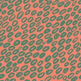 Seamless pattern with green hand draw ellipses Stock Photography