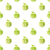 Seamless pattern with green hand-drawn apples on white background. Seamless pattern with green hand-drawn apples on white Royalty Free Stock Photos