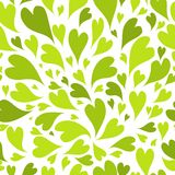 Seamless pattern with green hearts for your design Royalty Free Stock Photos