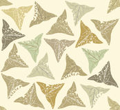 Seamless pattern with green ivy leaves.  Royalty Free Stock Image