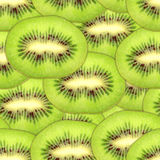 Seamless pattern of green kiwi slices Royalty Free Stock Image