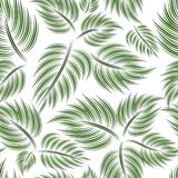 Seamless pattern with green leaf Stock Photography
