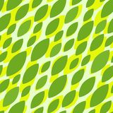 Seamless pattern with green leafs Royalty Free Stock Photos