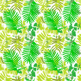 Seamless pattern with green leafs Royalty Free Stock Images