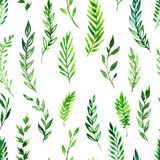 Seamless pattern with green leaves Stock Photography