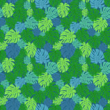 Seamless pattern with green leaves Royalty Free Stock Image