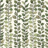 Seamless pattern. Green leaves on light background vector illustration