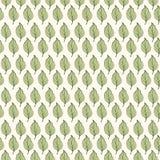 Seamless pattern. Green leaves on light background stock illustration