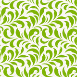 Seamless pattern with green leaves. Monochrome spring background. Vector illustration Stock Images