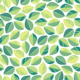 Seamless pattern with green leaves. Texture for cosmetics, tea production, live food, environmental themes. Vector illustration stock illustration