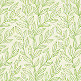 Seamless pattern with green leaves Stock Images