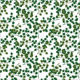 Seamless pattern green leaves Stock Images