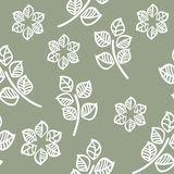 Seamless pattern of green leaves Stock Images