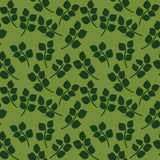 Seamless pattern of green leaves Royalty Free Stock Photos