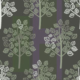 Seamless pattern of green leaves Royalty Free Stock Images