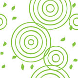 Seamless pattern with green leaves Royalty Free Stock Photo