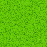 Seamless pattern with green leaves. Vector. Stock Photo