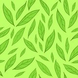 Seamless pattern with green leaves Royalty Free Stock Photography