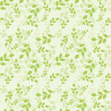 Seamless pattern with green leaves. Vector illustration.  Natural style. Background for dress, manufacturing, wallpapers, prints, Stock Photos