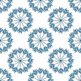 Seamless pattern of green leaves on a white Stock Image