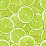 Seamless pattern of green lime slices Stock Photo