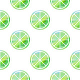 Seamless pattern with green limes Royalty Free Stock Photography