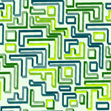 Seamless pattern of green maze Royalty Free Stock Photo