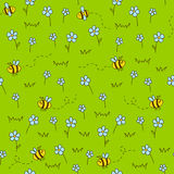 Seamless pattern with green meadow Royalty Free Stock Image