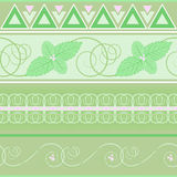 Seamless pattern. With green mint Stock Photo