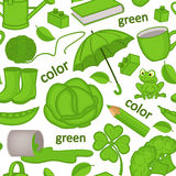 Seamless pattern with green objects Royalty Free Stock Image