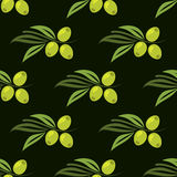 Seamless pattern with green olives Royalty Free Stock Image