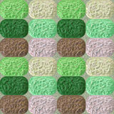 Seamless pattern with green, pink and brown mosaic Royalty Free Stock Photo