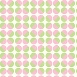 Seamless pattern green and pink geometric circle vector Royalty Free Stock Image