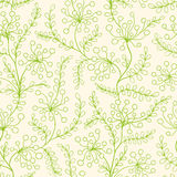 Seamless pattern with green plants Royalty Free Stock Images