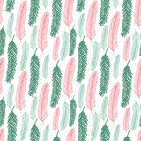 Seamless pattern with green and red fir tree branches. Vector texture for Christmas textile design. Seamless pattern with green and red fir tree branches Royalty Free Stock Photo