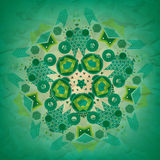 Seamless pattern of  green rounded geometric shapes Royalty Free Stock Images