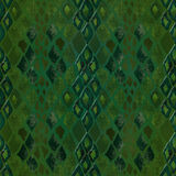 Seamless pattern of green snake skin Stock Photo