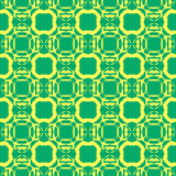 Seamless pattern of green spheres. Geometric vector background. Royalty Free Stock Photos