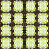 Seamless pattern with green tea latte Royalty Free Stock Images