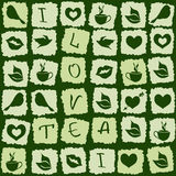 Seamless pattern of green tea puzzle Royalty Free Stock Photography
