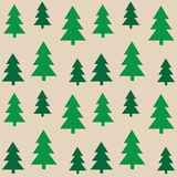 Seamless pattern green trees Stock Images