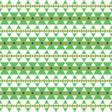 Seamless pattern of green triangle and circle Royalty Free Stock Images