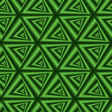 Seamless pattern with green triangle forms Stock Photos