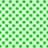 Seamless pattern of a green white plaid tablecloth Stock Image