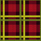Seamless pattern in green, yellow and red colors Royalty Free Stock Images