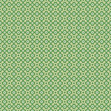 Seamless pattern. Green seamless pattern with yellow squares and white circles Stock Photo