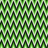 Seamless pattern with green zigzag elements Royalty Free Stock Photography