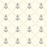 Seamless pattern with grey anchors vector illustration